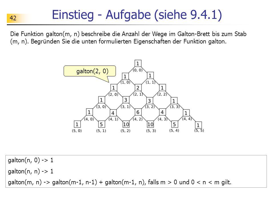 Einstieg - Aufgabe (siehe 9.4.1)