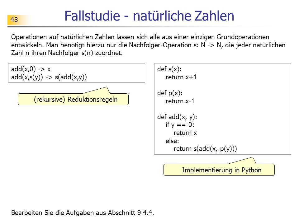 Fallstudie - natürliche Zahlen