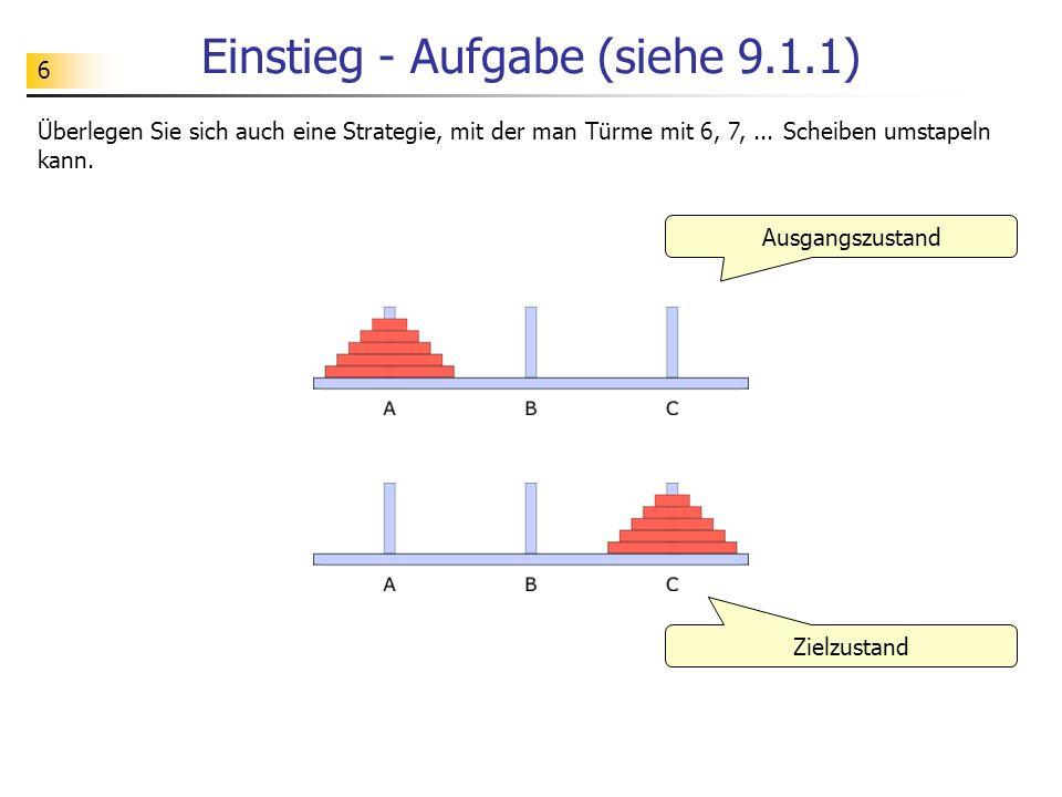 Einstieg - Aufgabe (siehe 9.1.1)