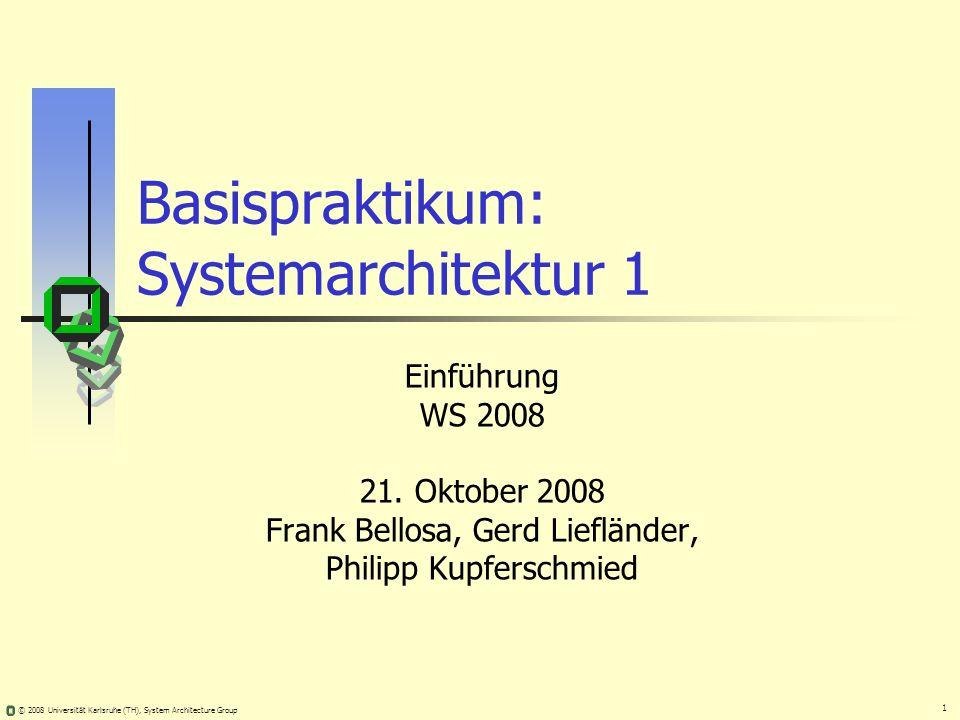 Basispraktikum: Systemarchitektur 1