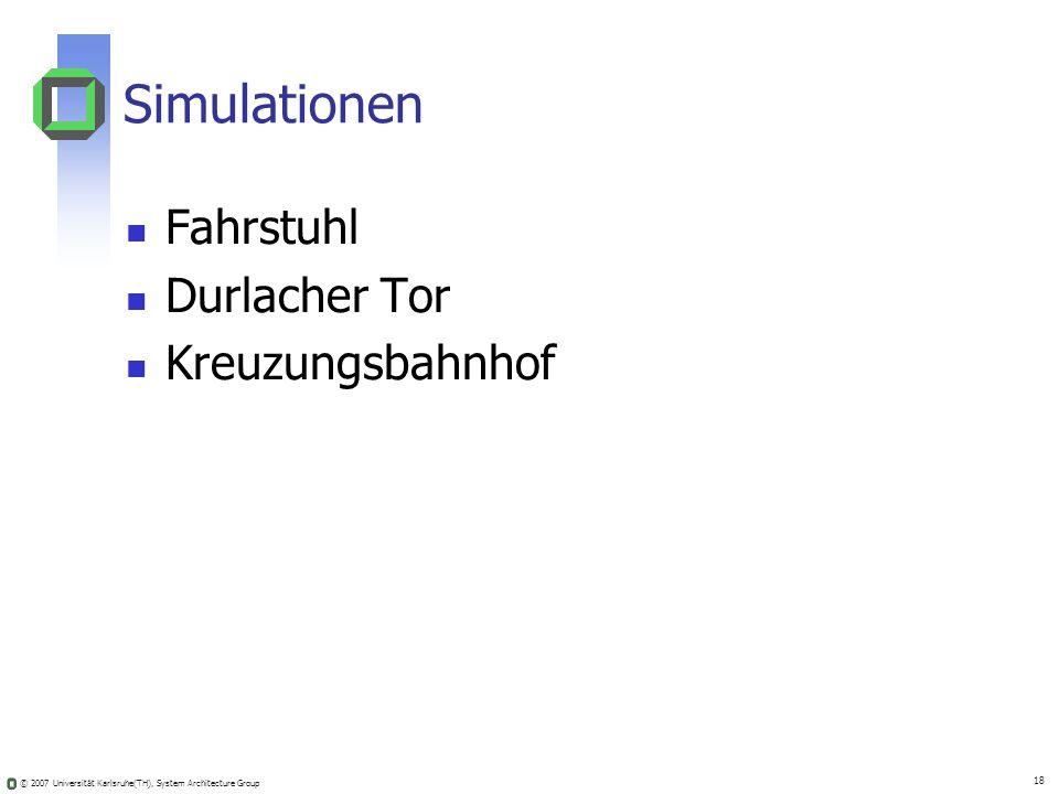Simulationen Fahrstuhl Durlacher Tor Kreuzungsbahnhof