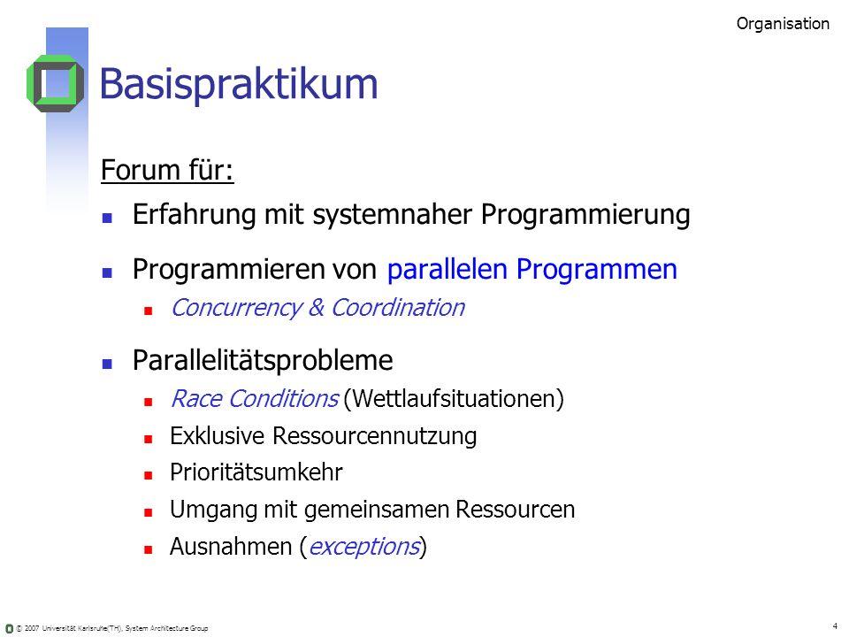 Basispraktikum Forum für: Erfahrung mit systemnaher Programmierung
