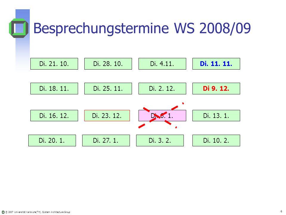 Besprechungstermine WS 2008/09