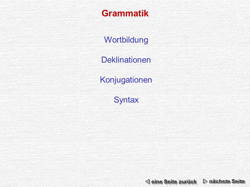 Grammatik Wortbildung Deklinationen Konjugationen Syntax