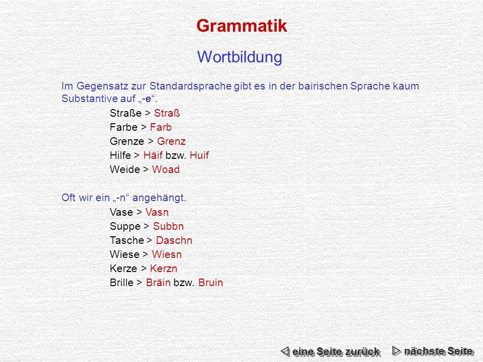 Grammatik Wortbildung
