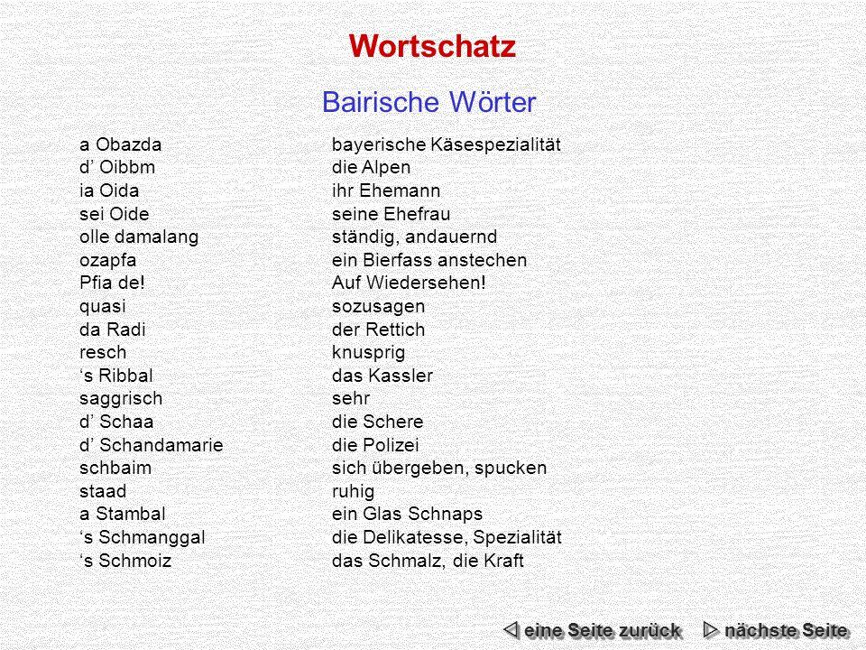 Wortschatz Bairische Wörter a Obazda bayerische Käsespezialität