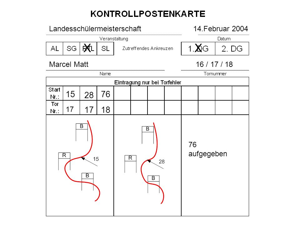 X X 15 28 76 17 18 Landesschülermeisterschaft 14.Februar 2004