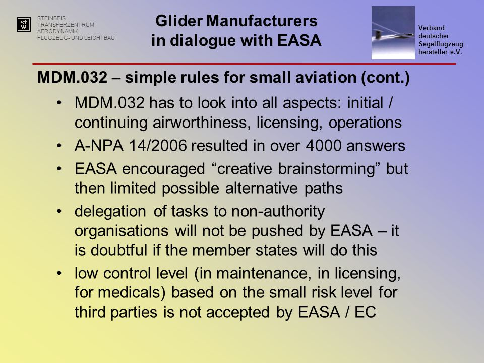 MDM.032 – simple rules for small aviation (cont.)