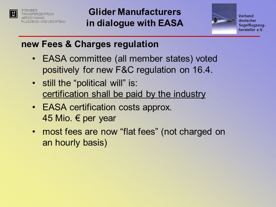 new Fees & Charges regulation