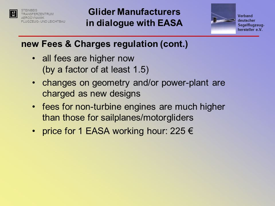 new Fees & Charges regulation (cont.)