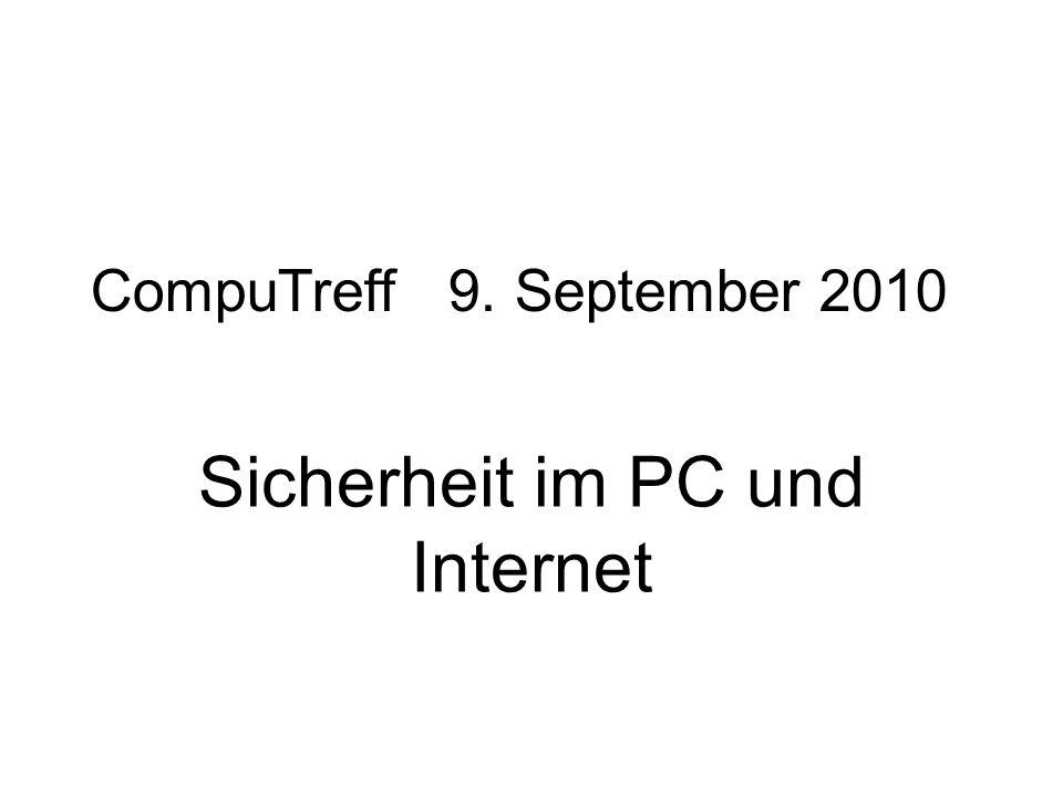 Sicherheit im PC und Internet