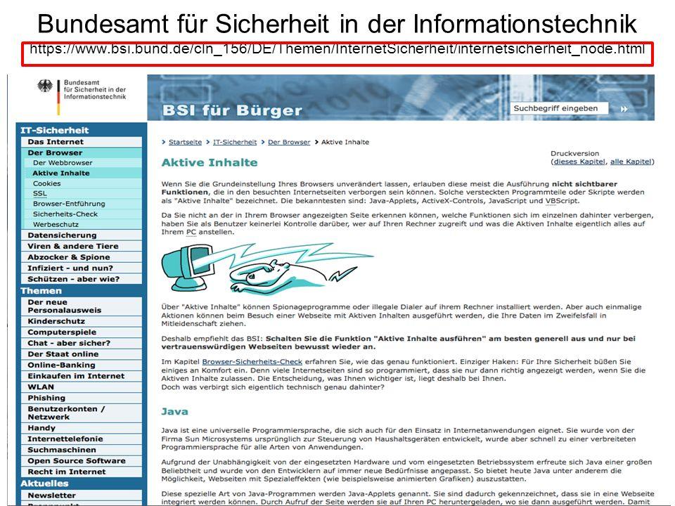 Bundesamt für Sicherheit in der Informationstechnik https://www. bsi