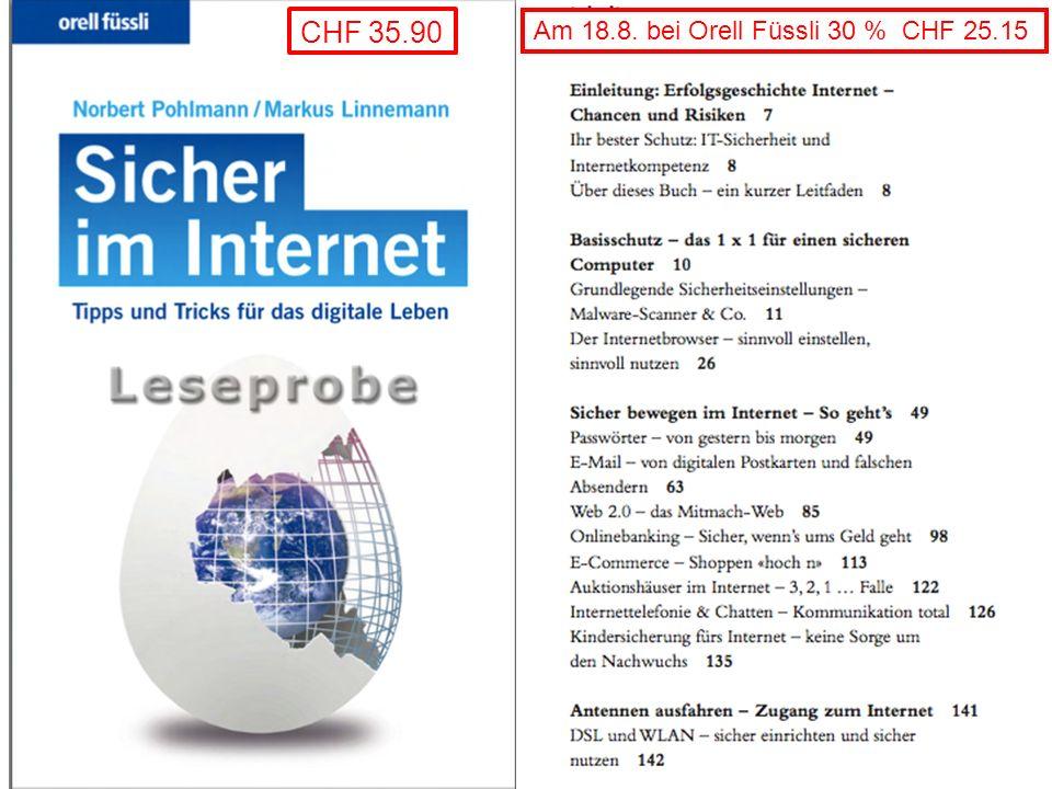 CHF 35.90 Am 18.8. bei Orell Füssli 30 % CHF 25.15