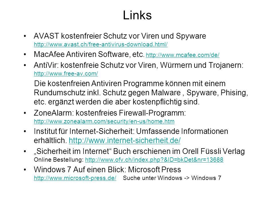 Links AVAST kostenfreier Schutz vor Viren und Spyware http://www.avast.ch/free-antivirus-download.html/