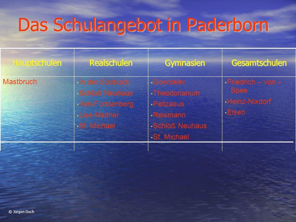 Das Schulangebot in Paderborn