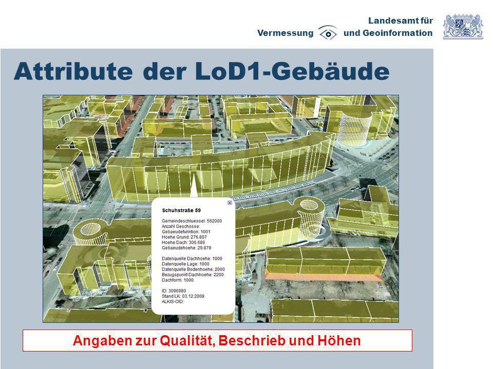 Attribute der LoD1-Gebäude
