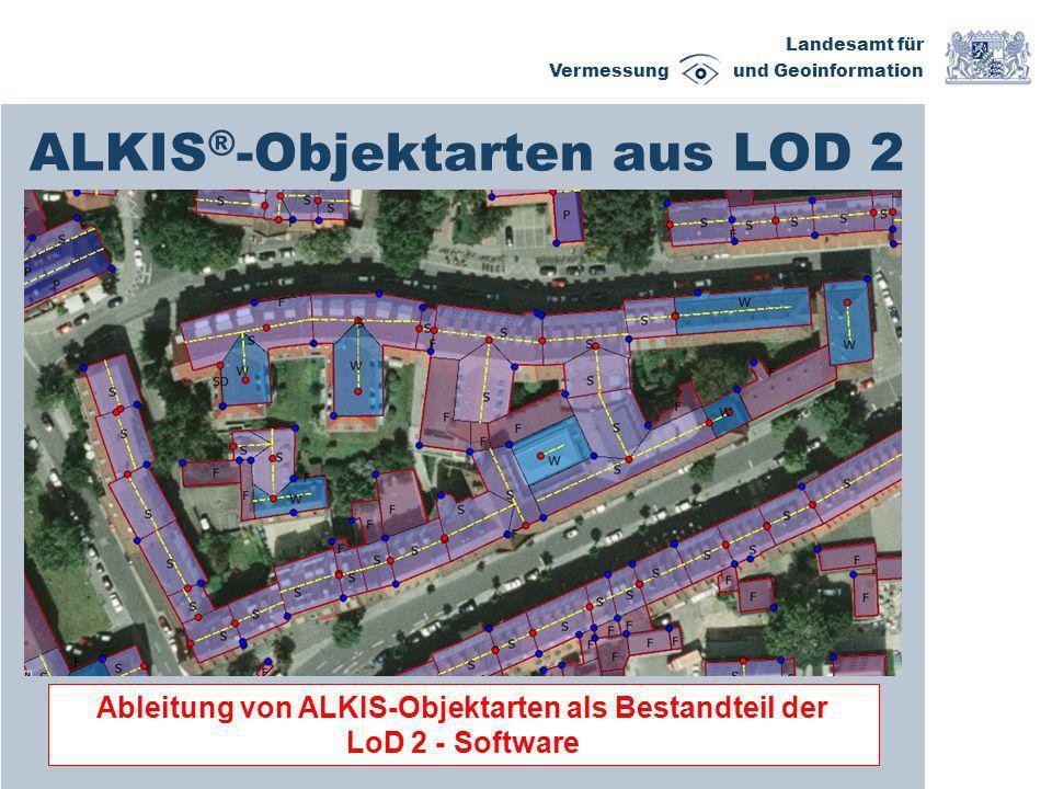 ALKIS®-Objektarten aus LOD 2