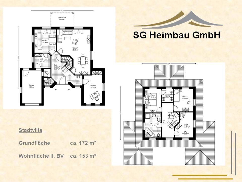 SG Heimbau GmbH Stadtvilla Grundfläche ca. 172 m²