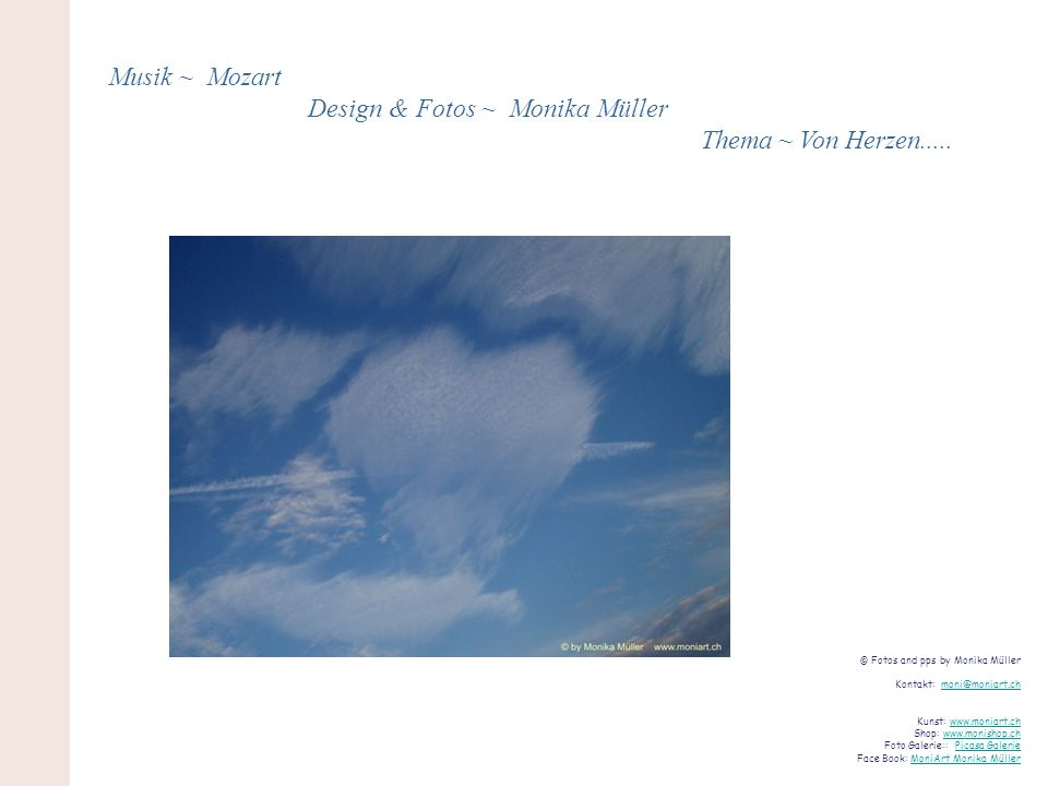 Design & Fotos ~ Monika Müller Thema ~ Von Herzen.....