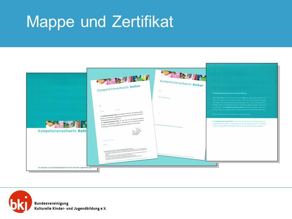 Mappe und Zertifikat