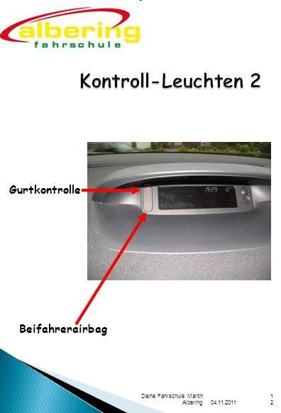 Kontroll-Leuchten 2 Gurtkontrolle Beifahrerairbag