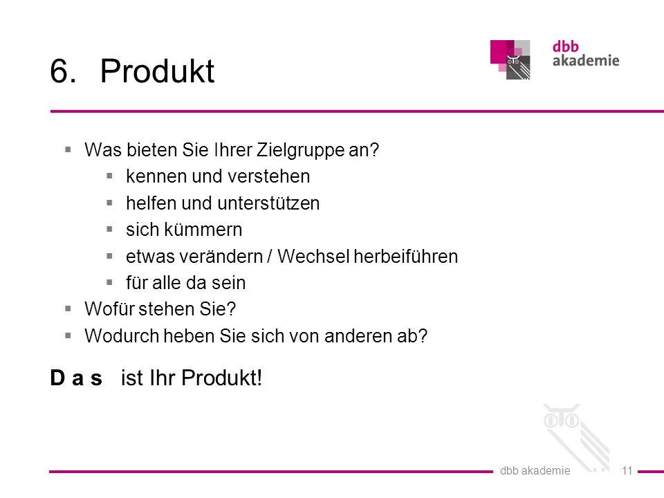 Produkt D a s ist Ihr Produkt! Was bieten Sie Ihrer Zielgruppe an