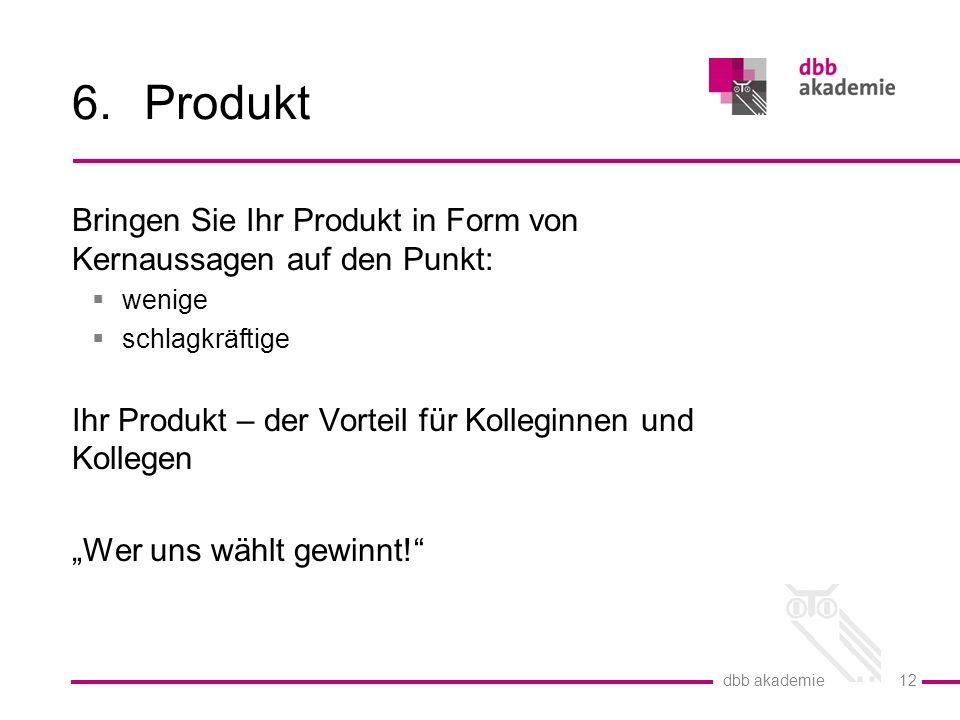Produkt Bringen Sie Ihr Produkt in Form von Kernaussagen auf den Punkt: wenige. schlagkräftige.