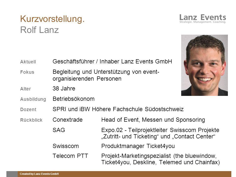 Kurzvorstellung. Rolf Lanz