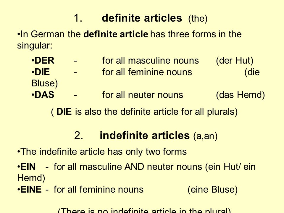 1. definite articles (the)