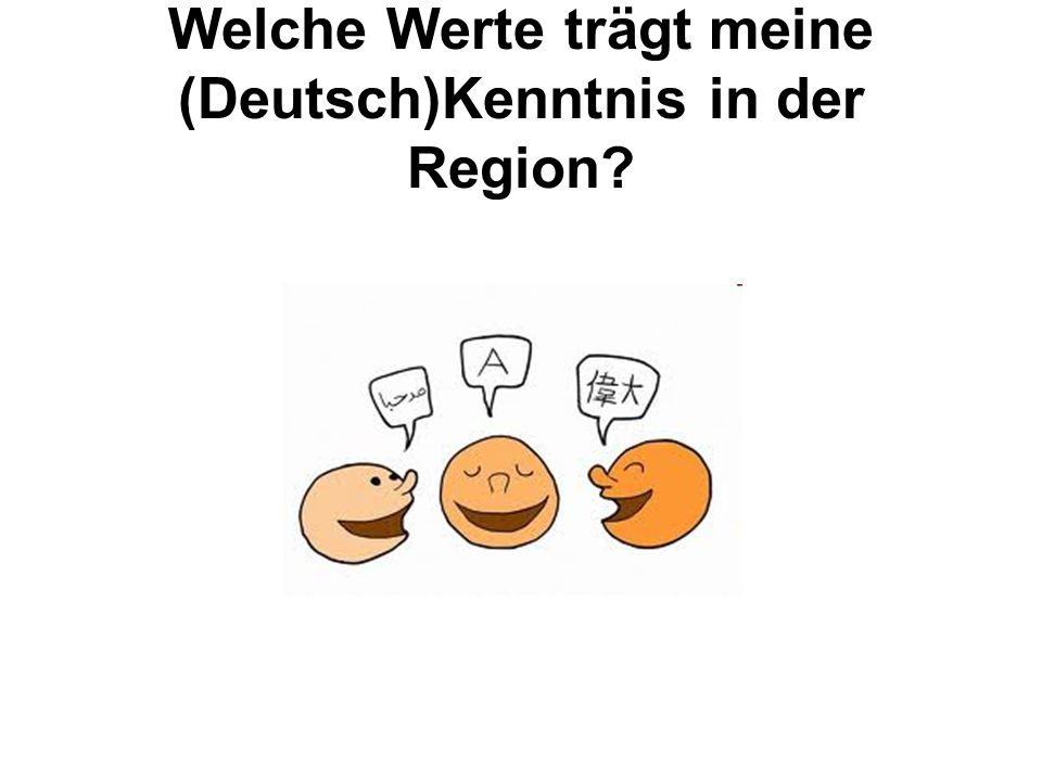 Welche Werte trägt meine (Deutsch)Kenntnis in der Region