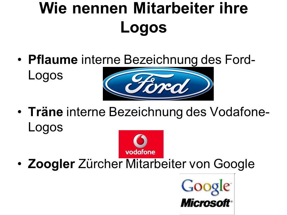 Wie nennen Mitarbeiter ihre Logos
