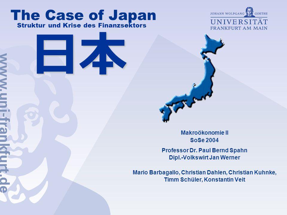 日本 The Case of Japan Struktur und Krise des Finanzsektors