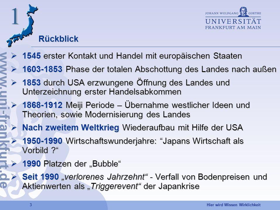 1 Rückblick 1545 erster Kontakt und Handel mit europäischen Staaten