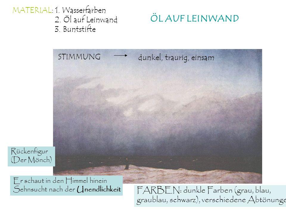 ÖL AUF LEINWAND MATERIAL: 1. Wasserfarben 2. Öl auf Leinwand