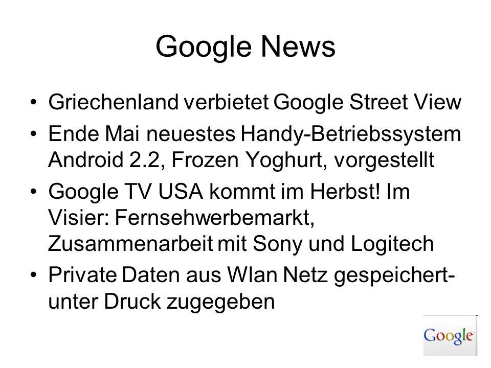 Google News Griechenland verbietet Google Street View