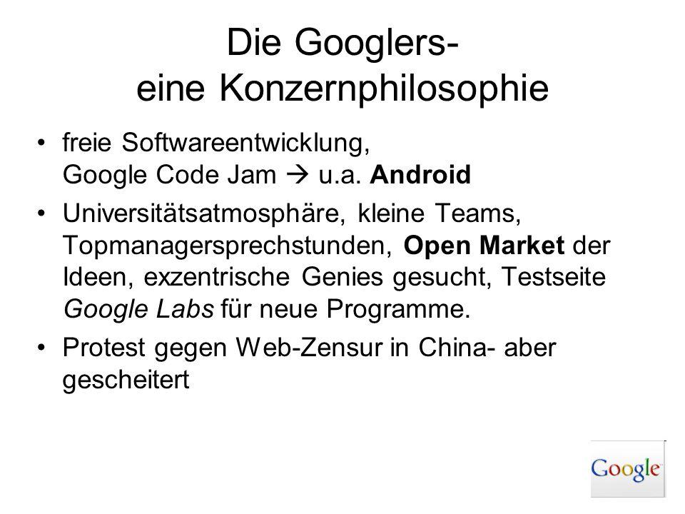 Die Googlers- eine Konzernphilosophie