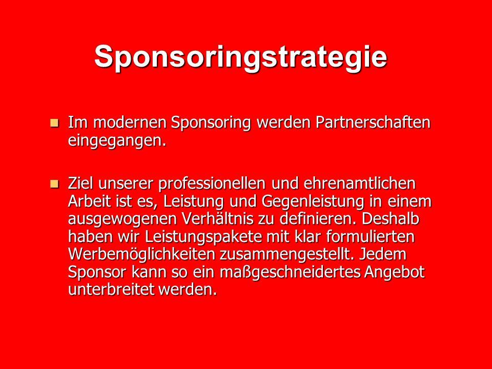 Sponsoringstrategie Im modernen Sponsoring werden Partnerschaften eingegangen.