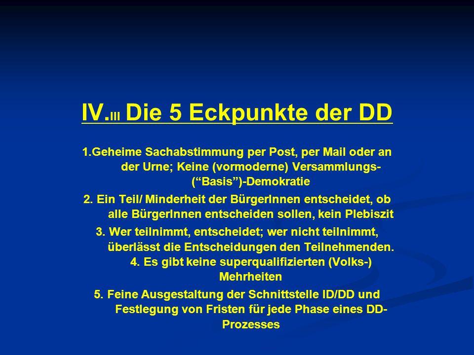 IV.III Die 5 Eckpunkte der DD