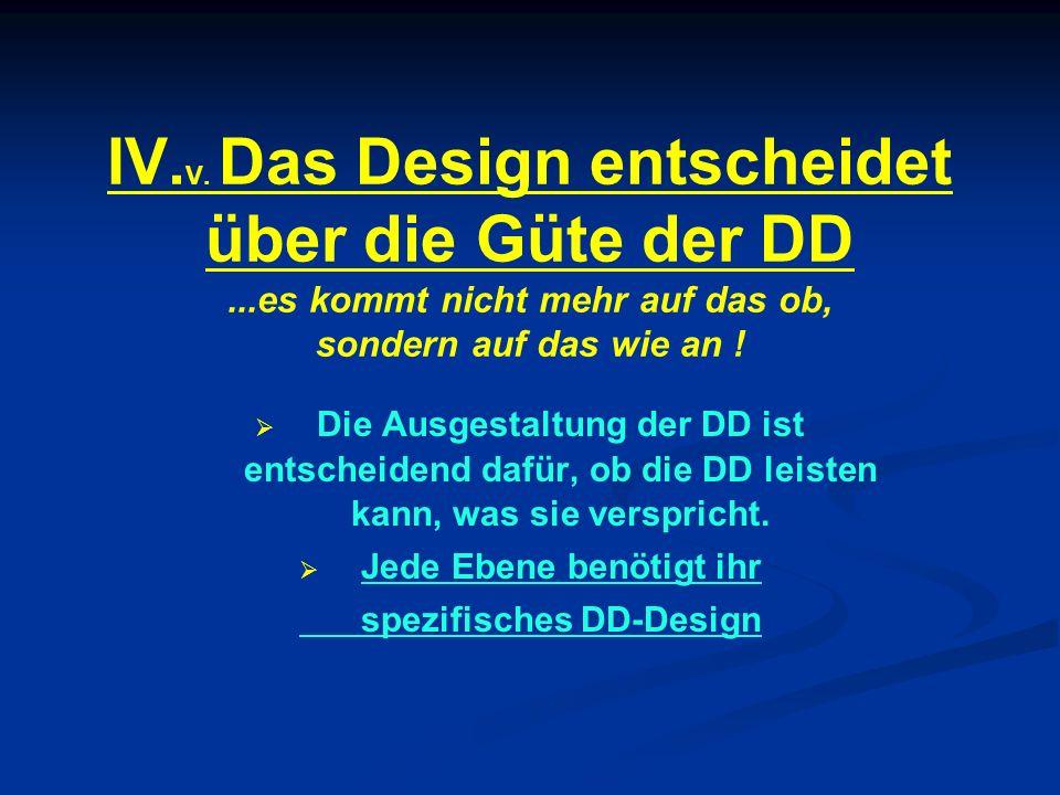 Jede Ebene benötigt ihr spezifisches DD-Design