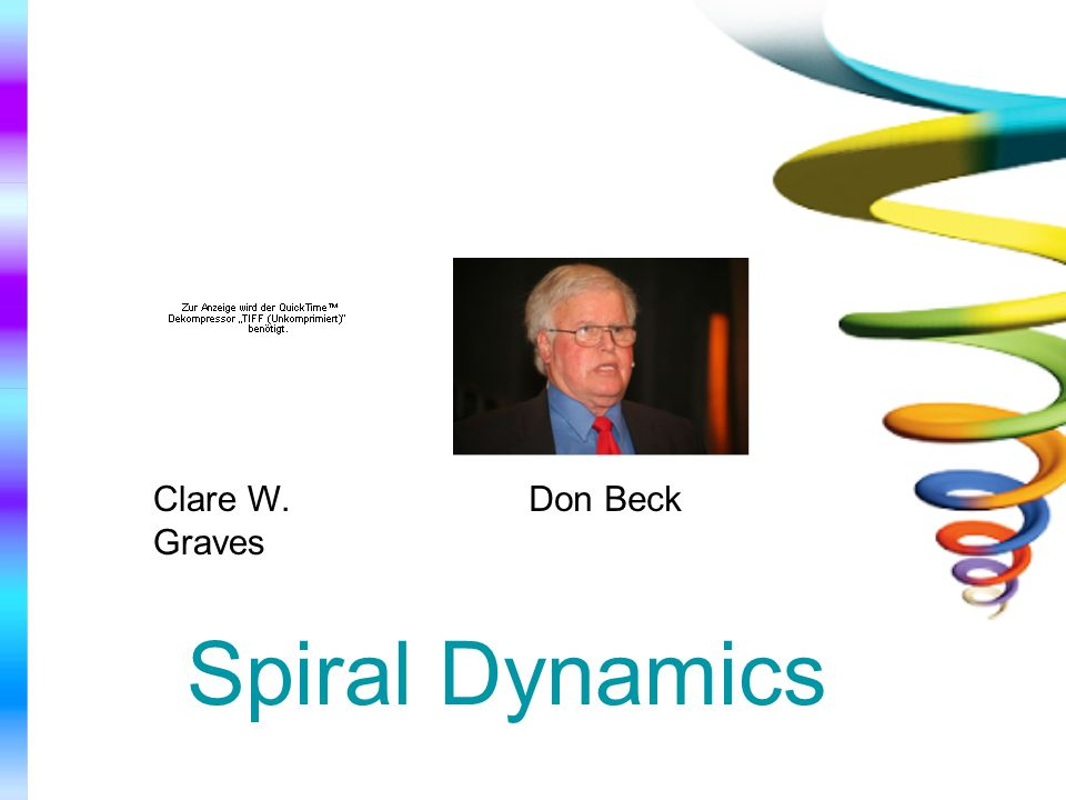 Clare W. Graves Don Beck Spiral Dynamics