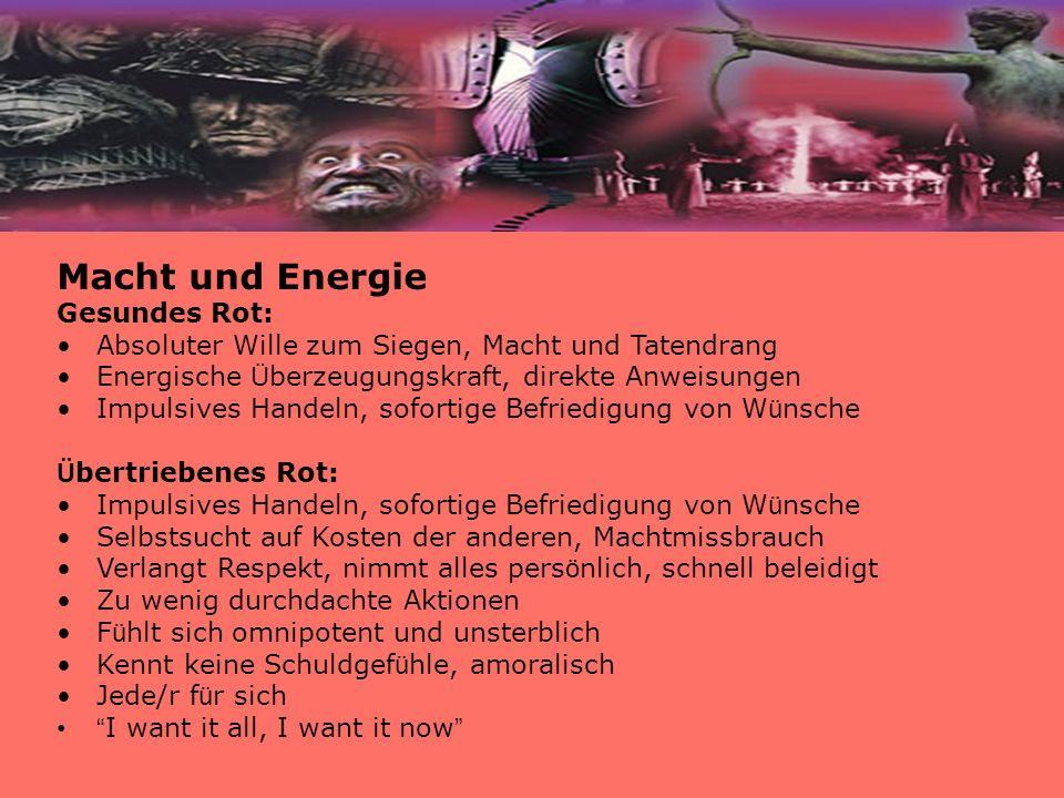 Macht und Energie Gesundes Rot: