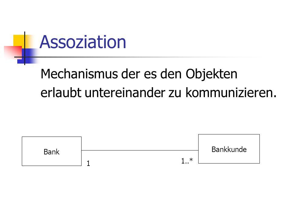 Assoziation Mechanismus der es den Objekten