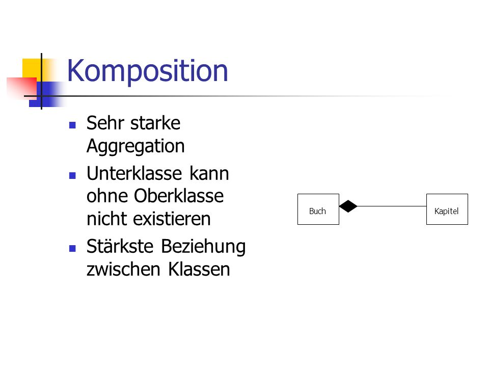 Komposition Sehr starke Aggregation
