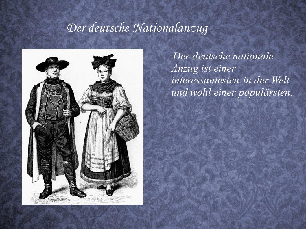 Der deutsche Nationalanzug