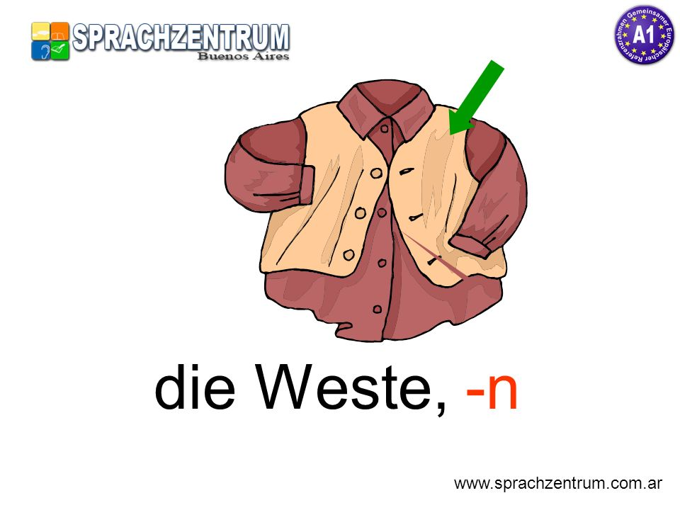 die Weste, -n www.sprachzentrum.com.ar
