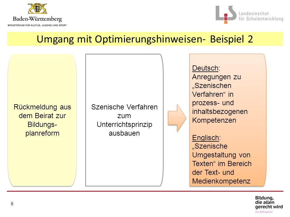 Umgang mit Optimierungshinweisen- Beispiel 2