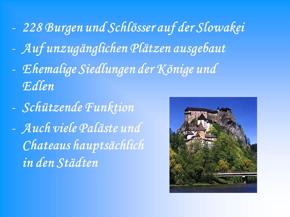 228 Burgen und Schlösser auf der Slowakei