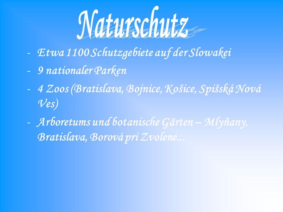 Naturschutz Etwa 1100 Schutzgebiete auf der Slowakei