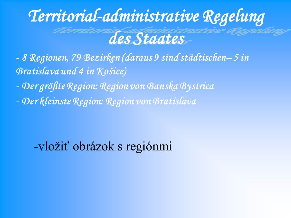Territorial-administrative Regelung