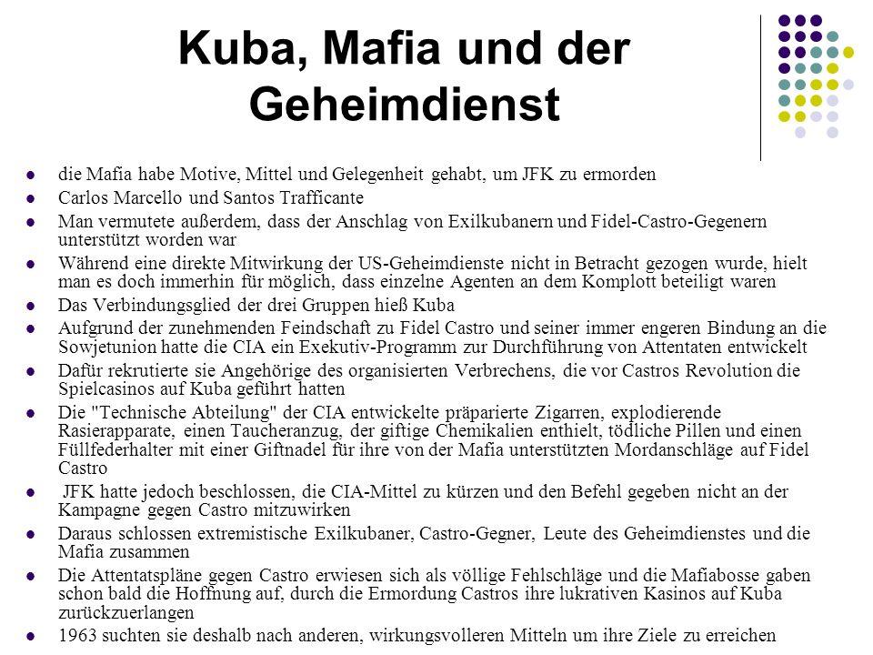 Kuba, Mafia und der Geheimdienst
